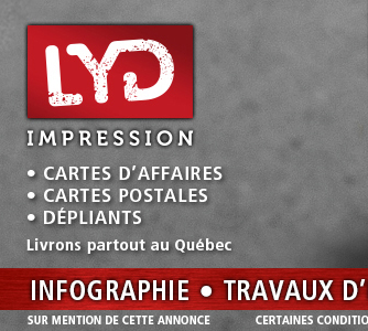 cartes d'affaires à chambly, logo de LYD Impression