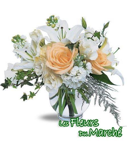 Arrangement de fleurs mis en vase chic for Bouquet de fleurs quebec