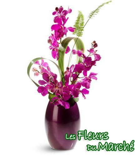 Vase couleur mauve du fleuriste de beloeil for Bouquet de fleurs quebec