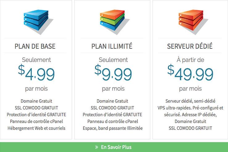 Image des promotions d'hebergement de site internet au Quebec web hosting promotions